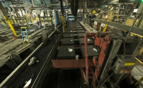 Hunter mold handling line