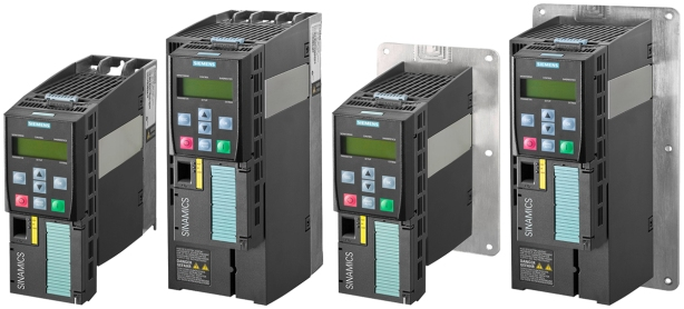 PM240-2 power modules are now available from Siemens for use with Sinamics G120 drives.  Various mounting, frame and power rating sizes now offered from stock.