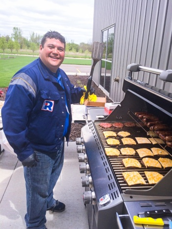 Guests at Rattunde's Open House enjoyed an outdoor barbeque!