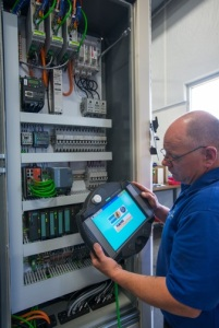 "Siemens drives, HMI, remote operator pendants and PLC technology operate the system. Hahn utilizes the Siemens global support of its products, while sourcing many components locally, thus the term ""glocal"" was coined."
