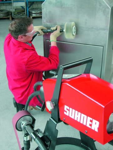 The Suhner Rotomax flex shaft power unit allows a variety of machining operations on a single station, with interchangeable hand pieces available to do the job. Ideal for job shop and production line use.
